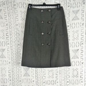 The Limited Double Button Front Pencil Skirt